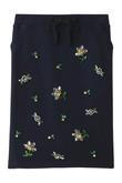 お花ビジュー刺繍裏毛スカート