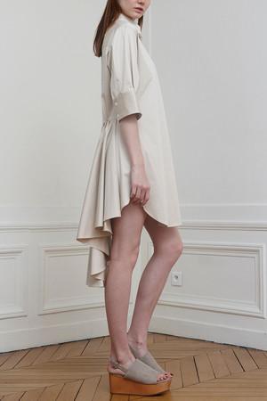 バックフレアシャツドレス ミハラ ヤスヒロ/MIHARA YASUHIRO