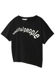 アシメトリーロゴTシャツ ビューティフルピープル/beautiful people