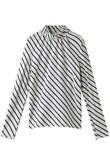 【予約販売】コットンボーダーバイアスハイネックTシャツ ビューティフルピープル/beautiful people