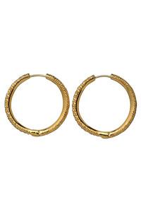 <ELLE SHOP> AYAMI jewelry アヤミ ジュエリー 【受注生産】パヴェスモールフープピアス ゴールド画像