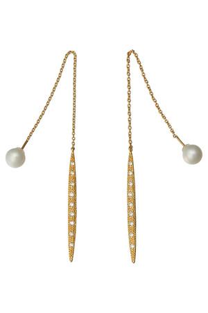 【受注生産】パールキャッチチェーンピアス アヤミ ジュエリー/AYAMI jewelry