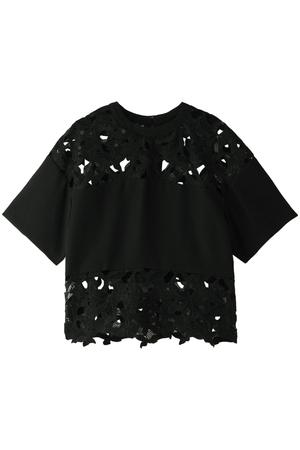刺繍フラワーカットレースシャツ アウラ/AULA