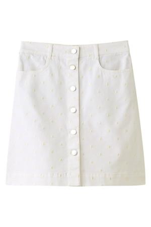 刺繍デニムミニスカート ステラ マッカートニー/STELLA McCARTNEY