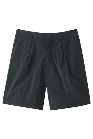 【MEN】PE/NY高密度タフタ 製品染めワイドショーツ サイ/Scye