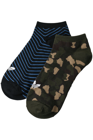 【MEN】TREFOIL LINEAR SOCKS CB アディダス オリジナルス/adidas Originals