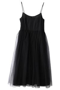 <ELLE SHOP> Bilitis dix-sept ans ビリティス・ディセッタン ロングチュチュドレス ブラック画像