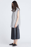 キュプラテンボストライプノースリーブシャツ フローレント/FLORENT