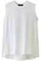 ナチュラルソフト天竺ノースリーブTシャツ フローレント/FLORENT ホワイト