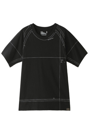 【MEN】【BLK】パターンプリントラグランTシャツ ホワイトマウンテニアリング/White Mountaineering