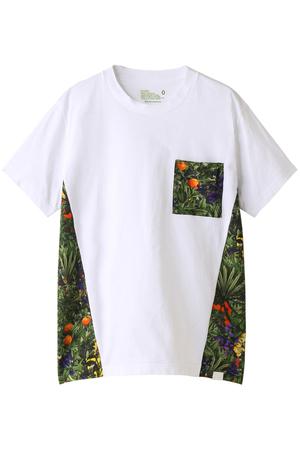 【MEN】 トロピカルプリントパネルTシャツ