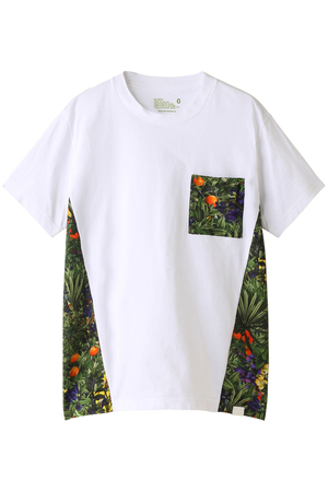 【MEN】 トロピカルプリントパネルTシャツ White Mountaineering