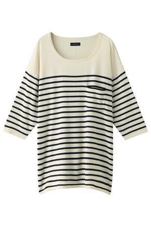 【MEN】ルーズニット7分Tシャツ アメリカンラグ シー/AMERICAN RAG CIE