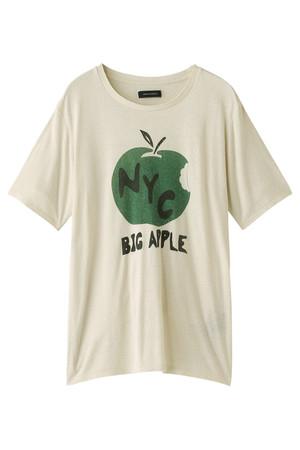 【MEN】シルクノイルBIG APPLE Tシャツ アメリカンラグ シー/AMERICAN RAG CIE