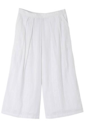【navasana】ストライプ刺繍パンツ アメリカンラグ シー/AMERICAN RAG CIE