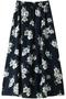 【予約販売】【navasana】フラワープリントスカート アメリカンラグ シー/AMERICAN RAG CIE ネイビー