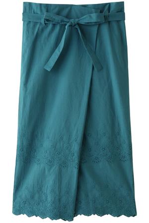 【navasana】キャンブリックフラワー刺繍スカート アメリカンラグ シー/AMERICAN RAG CIE