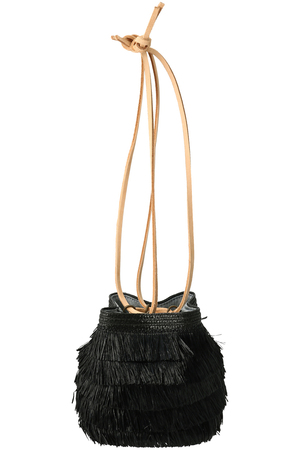 【EXQUISITE J】FRINGE STRAW BASKET アメリカンラグ シー/AMERICAN RAG CIE
