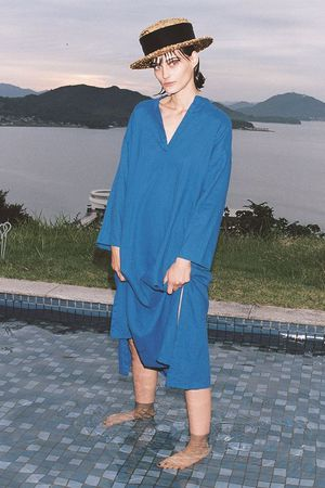 【予約販売】【CRUISE COLLECTION】リネンロングスリーブドレス エンフォルド/ENFOLD