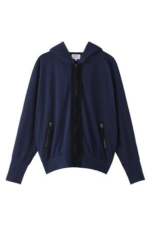 SALE 【30%OFF】 [LANVIN en Bleu ランバン オン ブルー] 裏毛ドルマンパーカー ネイビー