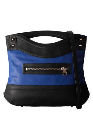 LANVIN en Bleu ランバン オン ブルー 配色クラッチバッグ小 ブルーxブラック