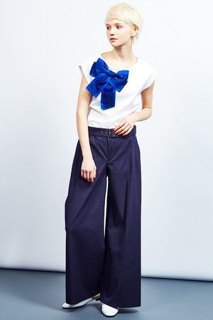 グログランリボンカットソー ランバン オン ブルー/LANVIN en Bleu