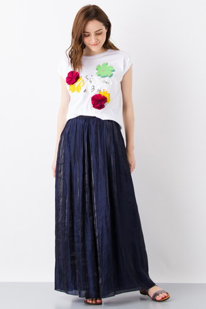 フラワーロゴプリントTシャツ ランバン オン ブルー/LANVIN en Bleu