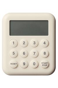 <ELLE SHOP> SEMPRE センプレ デジタル10キータイマー ベージュ (±0 プラスマイナスゼロ) ベージュ