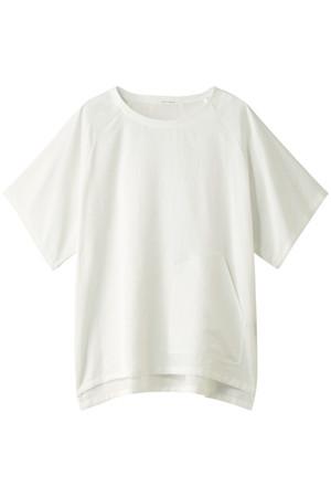 コットン混サテンポケット付半袖ブラウス プレインピープル/PLAIN PEOPLE