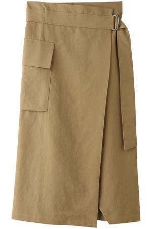 コットン テンセルWクロス巻きスカート プレインピープル/PLAIN PEOPLE