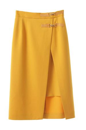ビット付ラップタイトスカート
