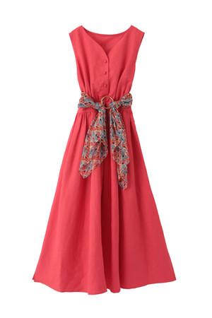 【予約販売】リネンカラーロングドレス ザ ヴァージニア/The Virgnia