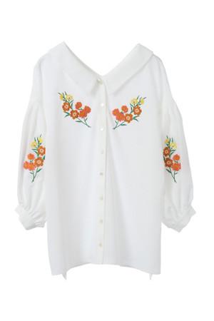 花柄刺繍シフォンブラウス ザ ヴァージニア/The Virgnia