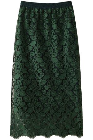 【予約販売】リーフ柄刺繍レースタイトスカート ザ ヴァージニア/The Virgnia