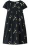 【予約販売】フラワー刺繍フレアワンピース トランテアン ソン ドゥ モード/31 Sons de mode ネイビー