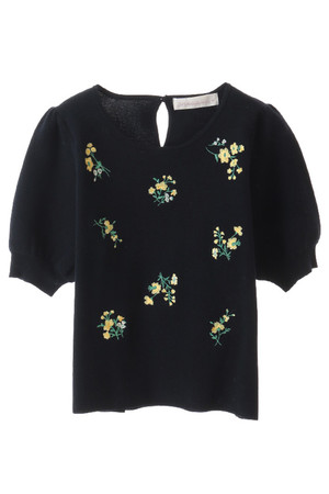 【予約販売】花柄刺繍パフスリーブプルオーバー トランテアン ソン ドゥ モード/31 Sons de mode