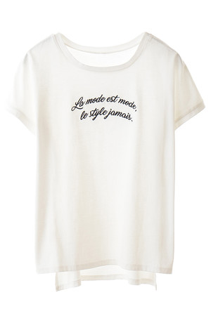メッセージ刺繍入りTシャツ トランテアン ソン ドゥ モード/31 Sons de mode