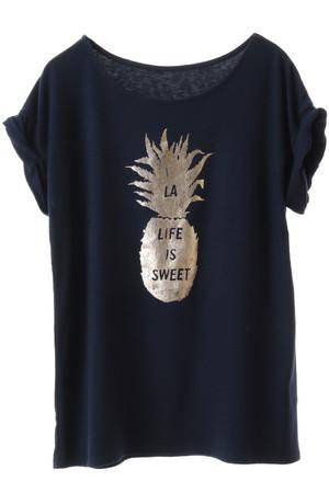 【予約販売】【MALIBU NATIVE BLUEコラボアイテム】パイナップル箔プリントTシャツ トランテアン ソン ドゥ モード/31 Sons de mode