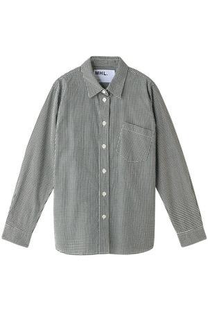 【MHL.】ベーシックギンガムチェックシャツ マーガレット・ハウエル/MARGARET HOWELL