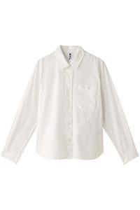 <ELLE SHOP> MARGARET HOWELL マーガレット・ハウエル 【MHL.】コットンシャツ ホワイト