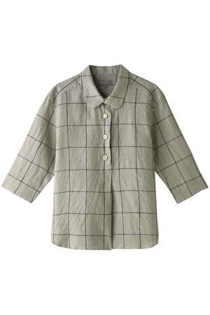 リネンラウンドカラーシャツ マーガレット・ハウエル/MARGARET HOWELL