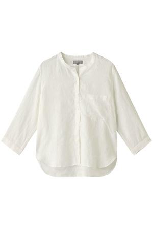 リネンノーカラーシャツ マーガレット・ハウエル/MARGARET HOWELL