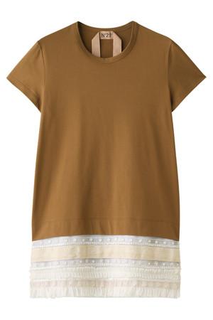 裾フリルTシャツ ヌメロ ヴェントゥーノ/N°21