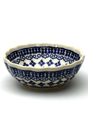 菊鉢φ12cm ポーリッシュポタリー/Polish Pottery