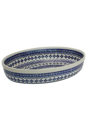 オーブン皿・オーバル・大 ポーリッシュポタリー/Polish Pottery