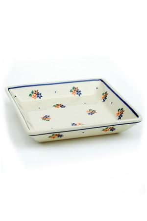 スクエアプレート ポーリッシュポタリー/Polish Pottery