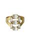 LUMIERE スリーストーンリング アデル ビジュー/ADER.bijoux クリスタル