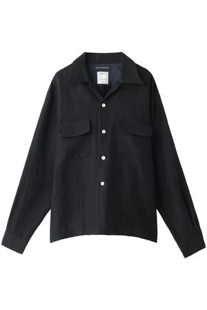 【予約販売】ウールリネンフラップポケットシャツ マディソンブルー/MADISONBLUE