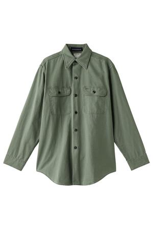 【予約販売】HAMPTON バックサテンシャツ マディソンブルー/MADISONBLUE