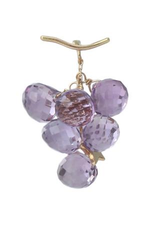 【受注生産】grape アメジスト片耳ピアス モナカ/monaka jewellery
